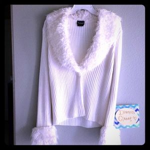 Coolwear Faux Fur Sweater